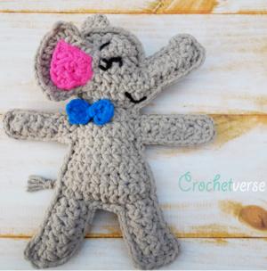 Grace: Crochet Elephant Comfort Blanket | 304x300