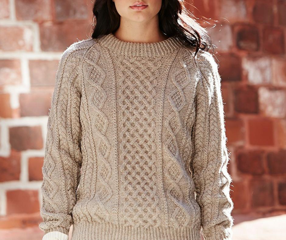 d04afdfcb 23 Super Cozy Knit Sweater Patterns | AllFreeKnitting.com