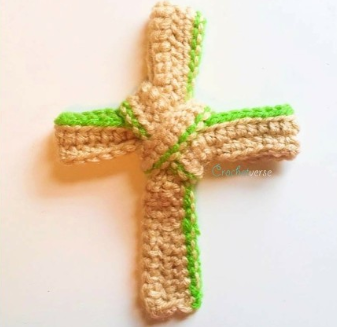 Pretty Palm Crochet Cross Pattern