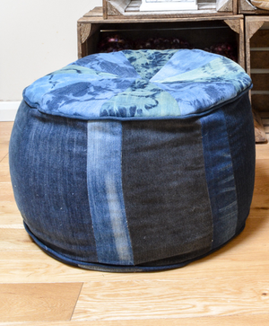 Large Denim Floor Cushion