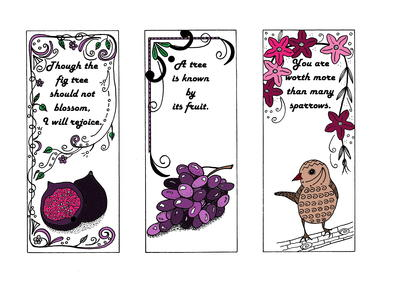 Religiously Inspired Bookmark Coloring Templates