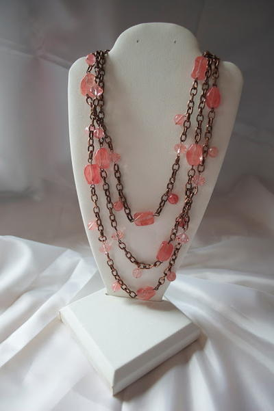 Copper Coral Necklace