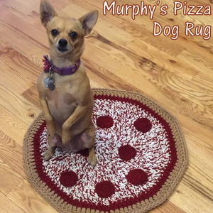 Murphy's Pizza Dog Rug