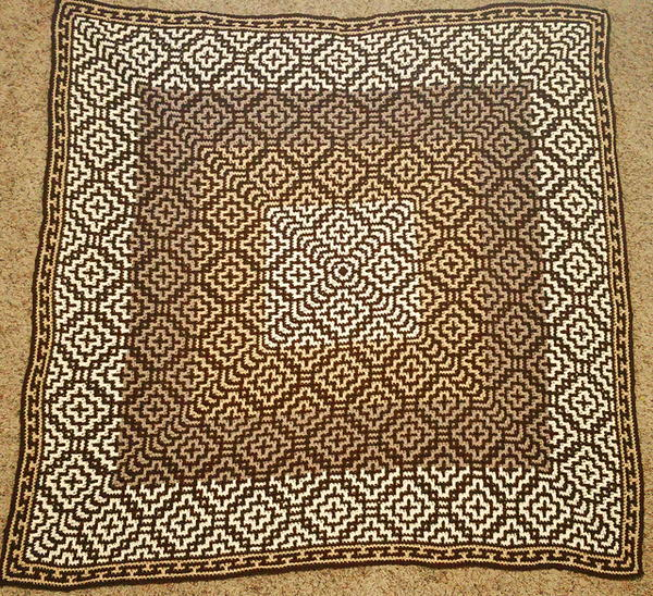 Southwestern Mosaic Cross Throw