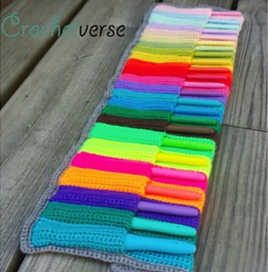 Jellyroll Crochet Hook Case Pattern
