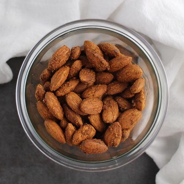 Garlic Air Fryer Almonds