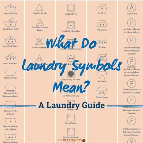 What Do Laundry Symbols Mean? A Laundry Guide