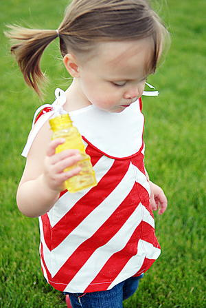 Chevron Tunic for Girls