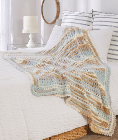 Summer Breeze Beachy Throw Pattern