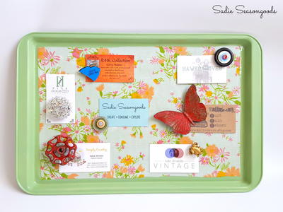 Cookie Sheet DIY Memo Board