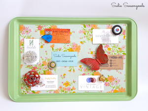 Cookie Sheet Diy Memo Board Cheapthriftyliving Com