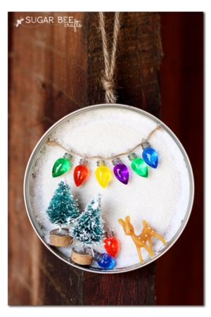 Winter Wonderland Mason Jar Ornament