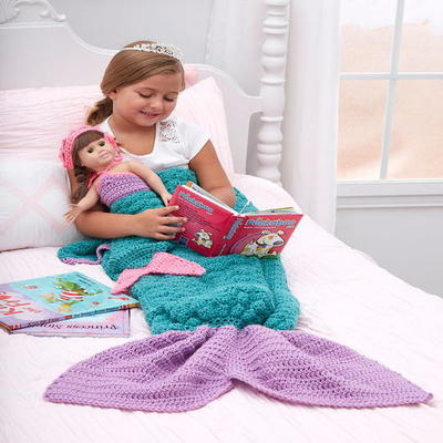 Mermaid Fantasy Crochet Blanket