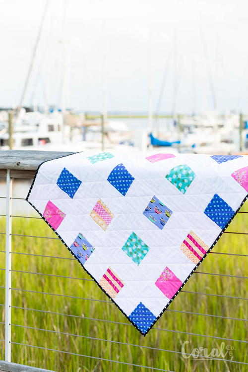 Four Square Simple Charm Pack Baby Quilt and Video