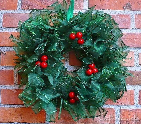 Glittery Ribbon Wreath