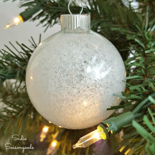 Easy and Elegant DIY Frosted Ornaments