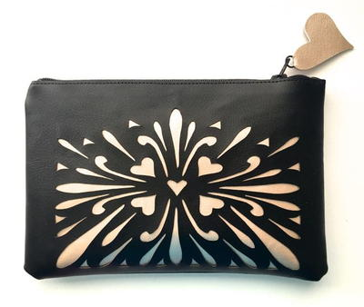 Silhouette Zippered Pouch