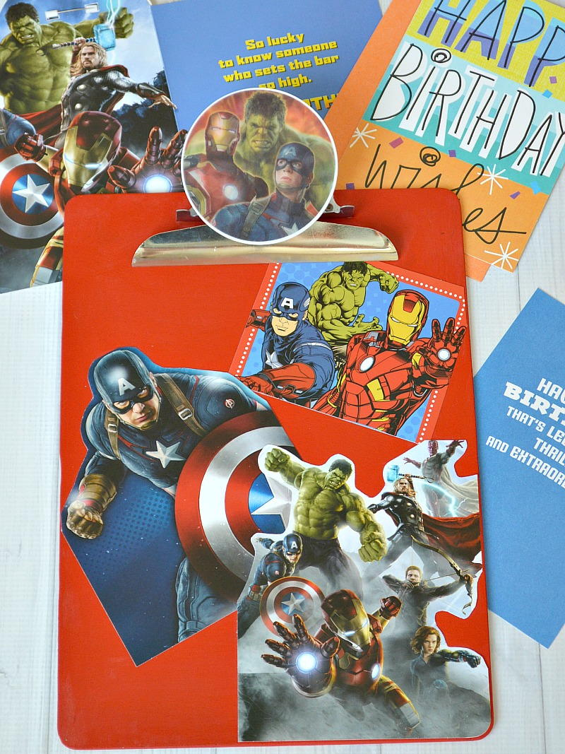 diy avengers card clipboard  favecrafts