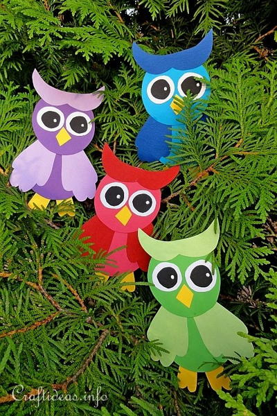 Colorful Paper Owls