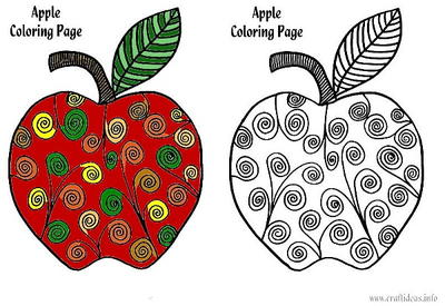 Printable Apple Coloring Page