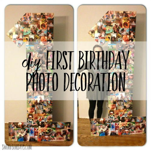 Birthday Party DIY Photo Collage