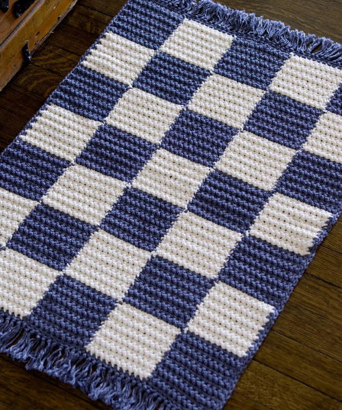 Crochet Checkerboard Rug