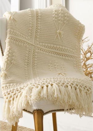 Aran Nosegay Crochet Throw