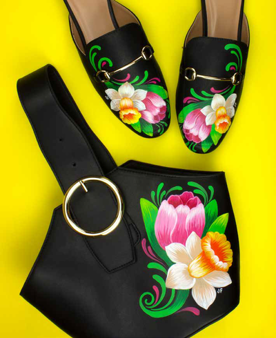 Let It Bloom Shoes and Purse