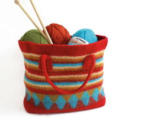 Colorful Felted Bag Knitting Pattern