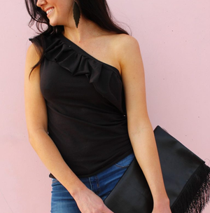 Make a One-Shoulder Ruffle Top from an Old T-Shirt