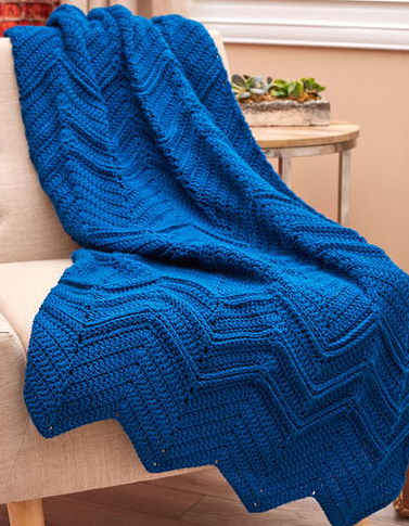 Elegant Blue Ripples Throw
