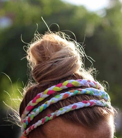 Braided Wrapped and Knotted Tie Dye T-shirt Headbands