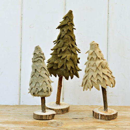 Upcycled Felt Christmas Trees