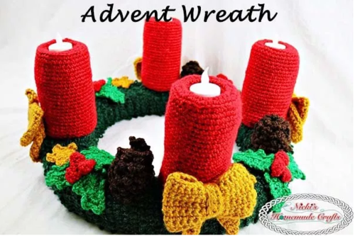 Crochet Christmas Advent Wreath