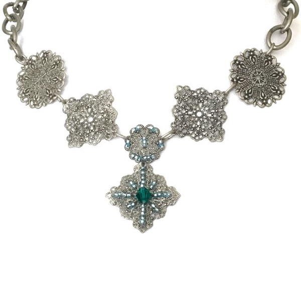 Beaded Metal Necklace