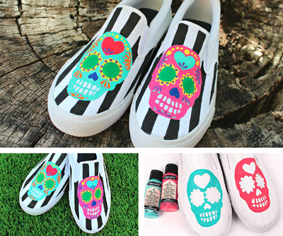 Day of the Dead Slip-On Shoes
