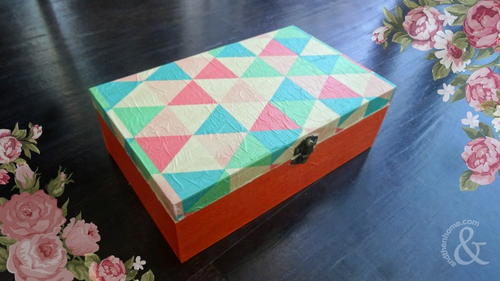 Tissue Paper Decoupage Jewelry Box