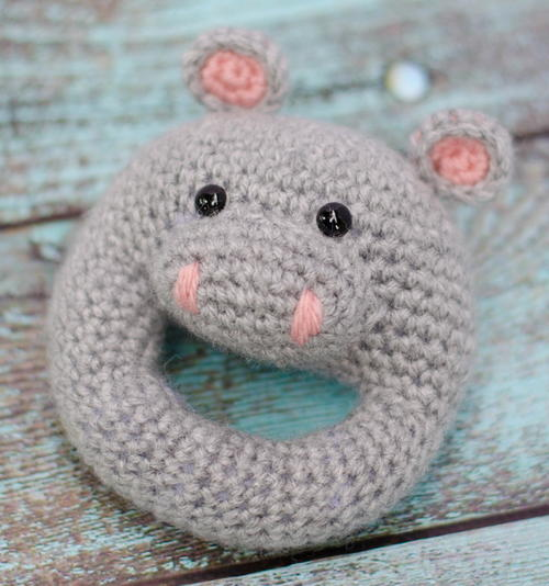 Hippo Crochet Rattle Pattern