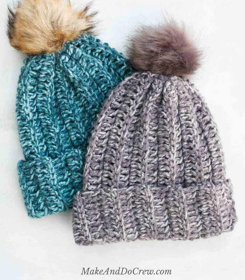 Easy Knit Look Crochet Hat Pattern