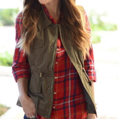Fall Jacket to Vest Refashion