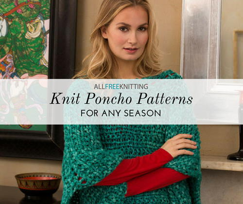 a6a44a72b 27 (Free) Knit Poncho Patterns to Keep You Cozy | AllFreeKnitting.com