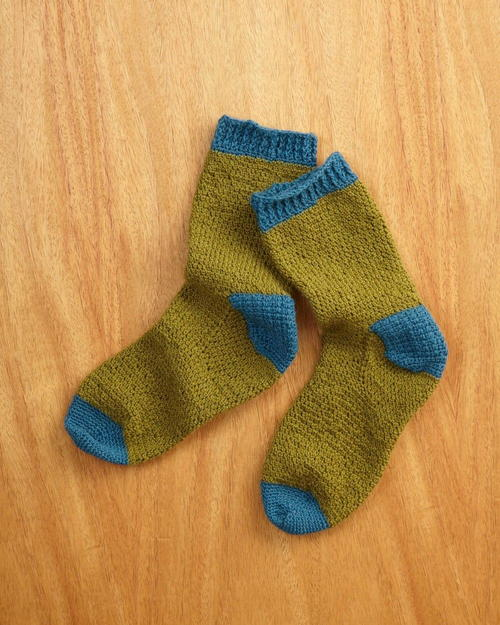 Fathers Day Crocheted Socks