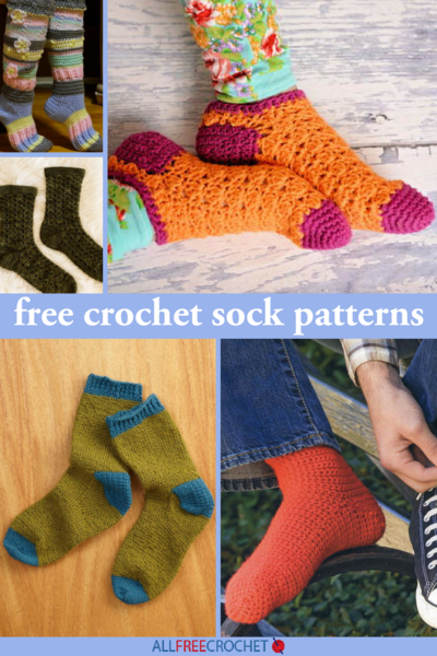 80a4fa47993c4 32 Free Crochet Sock Patterns | AllFreeCrochet.com