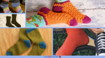 32 Free Crochet Sock Patterns