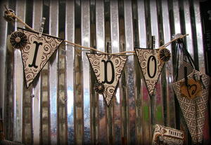"""I Do"" Paper Bunted Banner"