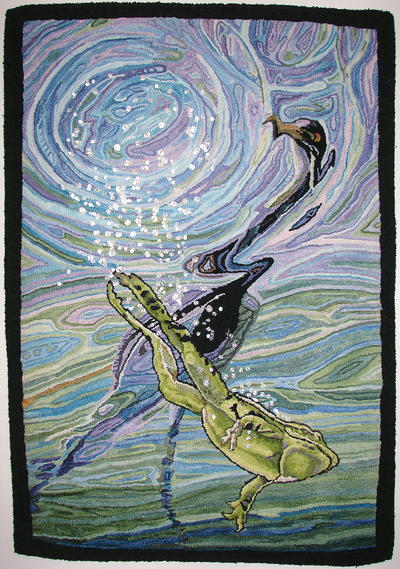Southern Leopard, Frog, and Tri-Colored Heron, Celebration XXII