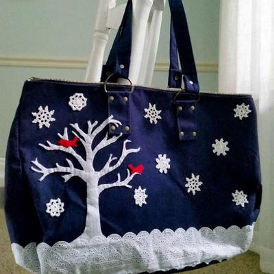 Snowy Scene Bag Transformation