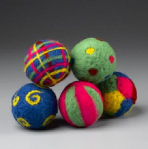Colorful Holiday Felted Ornaments