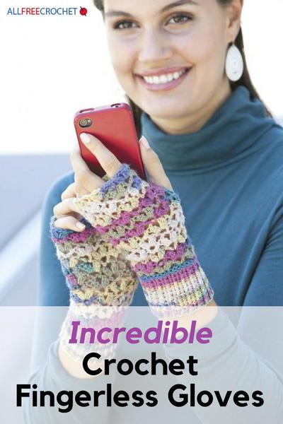 55 Incredible Crochet Fingerless Gloves Allfreecrochetcom