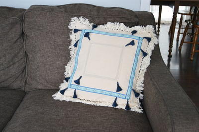 Tassel  Trim Pillow